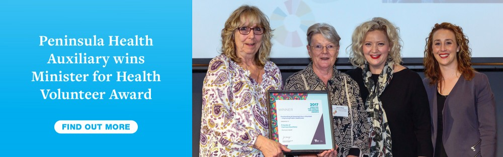 Auxiliary wins Minister for Health Volunteer Award