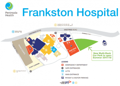 Frankston Hospital parking map