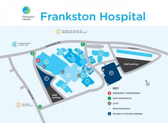 Frankston Hospital Map