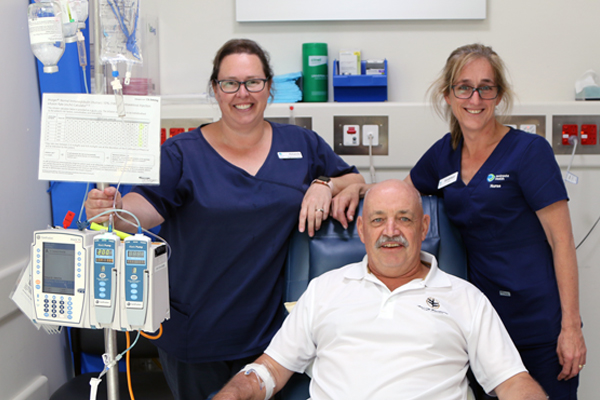 Gary with Infusion Centre Nurses