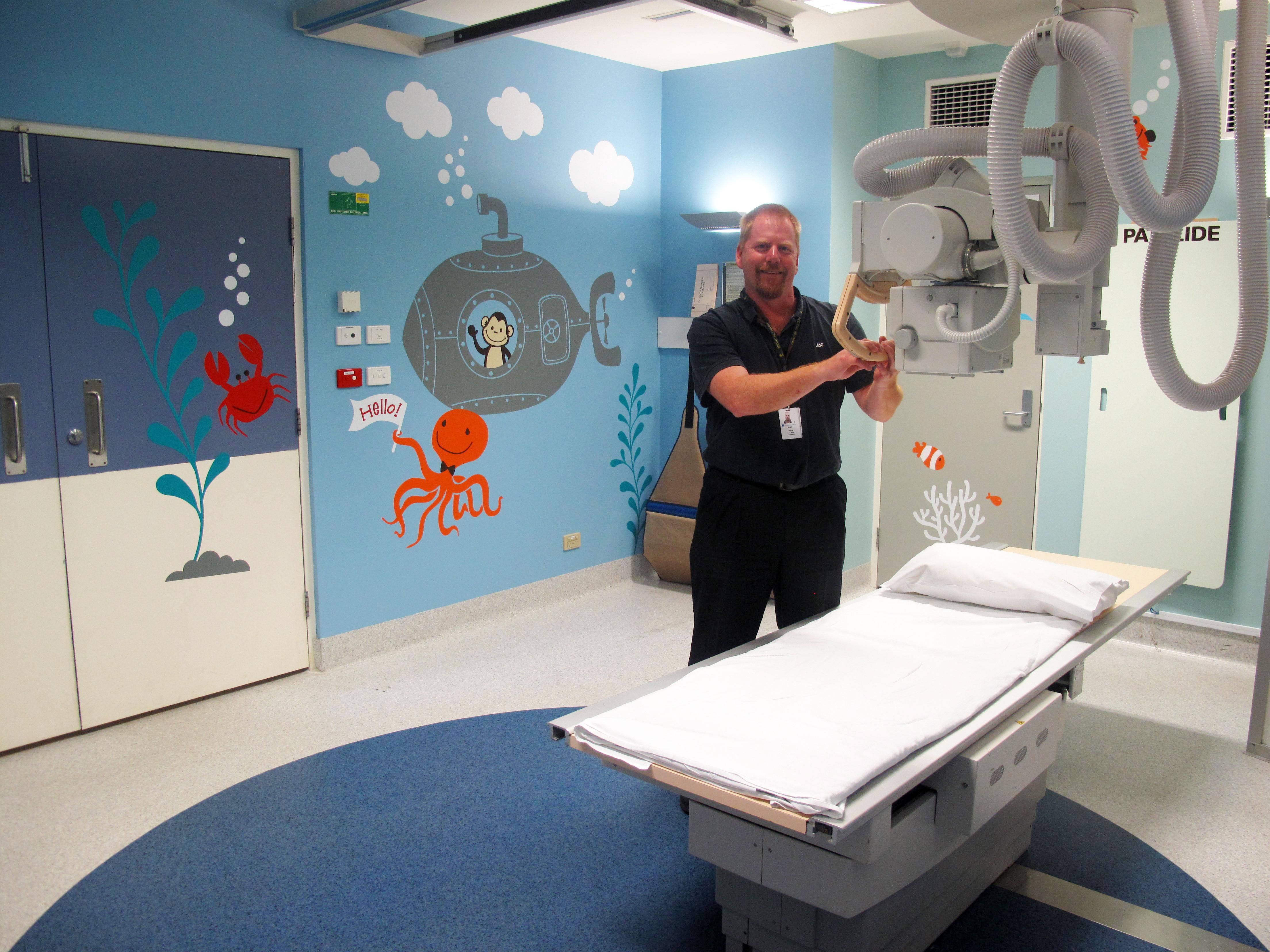 Underwater magic for sick children peninsula health for X ray room floor plan