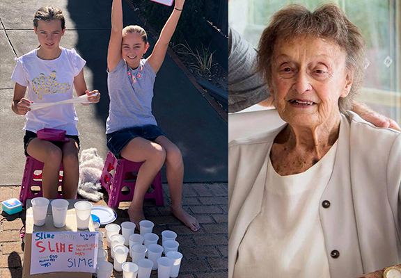 Cousins sell slime to raise funds for Cancer Services