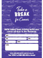 Take a Break for Cancer event poster