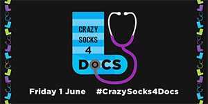 Twitter - Crazy socks for Docs