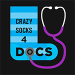 Twitter profile image - Crazy socks for Docs